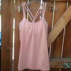 Athleta workout tank top size medium pink